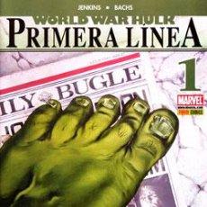 Cómics: WORLD WAR HULK PRIMERA LINEA - PANINI CASI COMPLETA NºS 1 3 4 Y 5. - . Lote 45773306