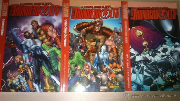 COMICS NUEVOS THUNDERBOLTS NÚMEROS 1 - REUNIDOS, 2 - REINO PÚRPURA Y 5 - SED DE PODER (Tebeos y Comics - Panini - Marvel Comic)
