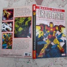 Cómics: IRON MAN ,LA 2º GUERRA DE LAS ARMADURAS, MARVEL HEROES, PANINI COMICS, 17X27, 216 PAGINAS, 2010. Lote 94688106
