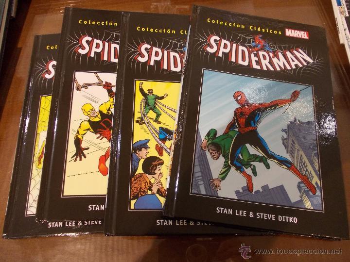 COLECCION CLASICOS MARVEL-SPIDERMAN-1-2-3 Y 4-PERFECTO ESTADO-SALVAT-STAN LEE & STEVE DIKTO (Tebeos y Comics - Panini - Marvel Comic)