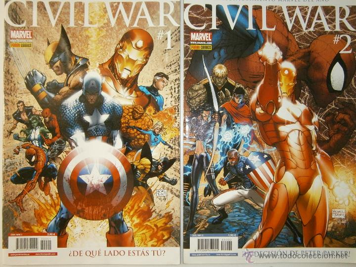 CIVIL WAR 1 Y 2 MARVEL PANINI 2007 (Tebeos y Comics - Panini - Marvel Comic)