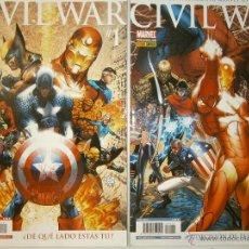Cómics: CIVIL WAR 1 Y 2 MARVEL PANINI 2007. Lote 48632368