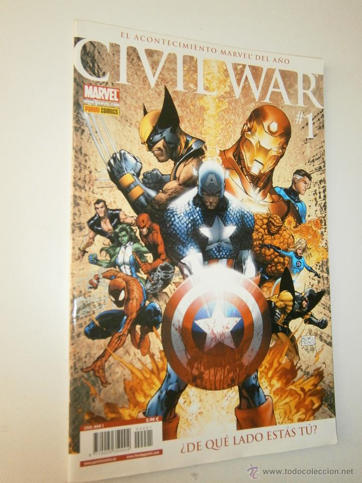 Cómics: Civil War 1 y 2 Marvel Panini 2007 - Foto 2 - 48632368