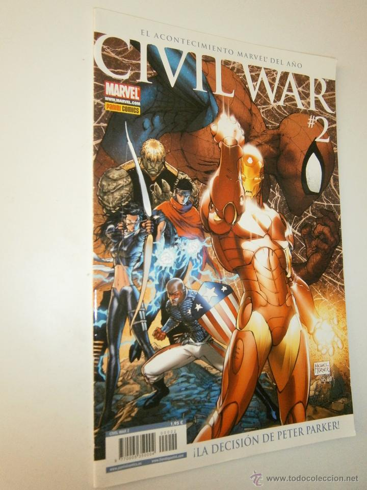 Cómics: Civil War 1 y 2 Marvel Panini 2007 - Foto 3 - 48632368