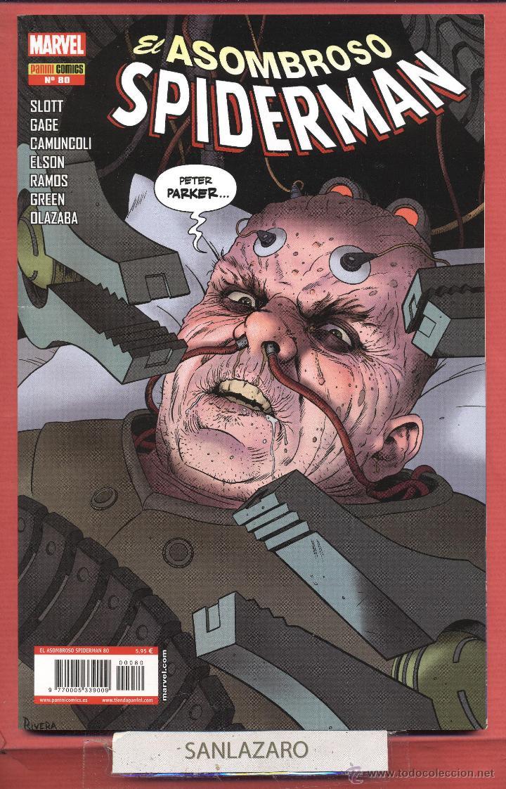 ASOMBROSO SPIDERMAN-MARVEL-PANINI COMICS-Nº80 JUN 2013-SLOTT-GAGE-CAMUNCOLI* (Tebeos y Comics - Panini - Marvel Comic)