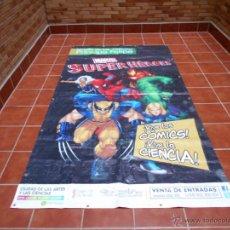 Cómics: LONA GRAN DIMENSION EXPOSICION MARVEL SUPERHEROES MUSEO DE LA CIENCIAS P. FELIPE VALENCIA 2008 2013. Lote 51165628