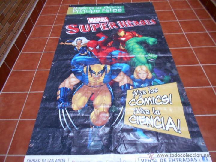 Cómics: LONA GRAN DIMENSION EXPOSICION MARVEL SUPERHEROES MUSEO DE LA CIENCIAS P. FELIPE VALENCIA 2008 2013 - Foto 2 - 51165628