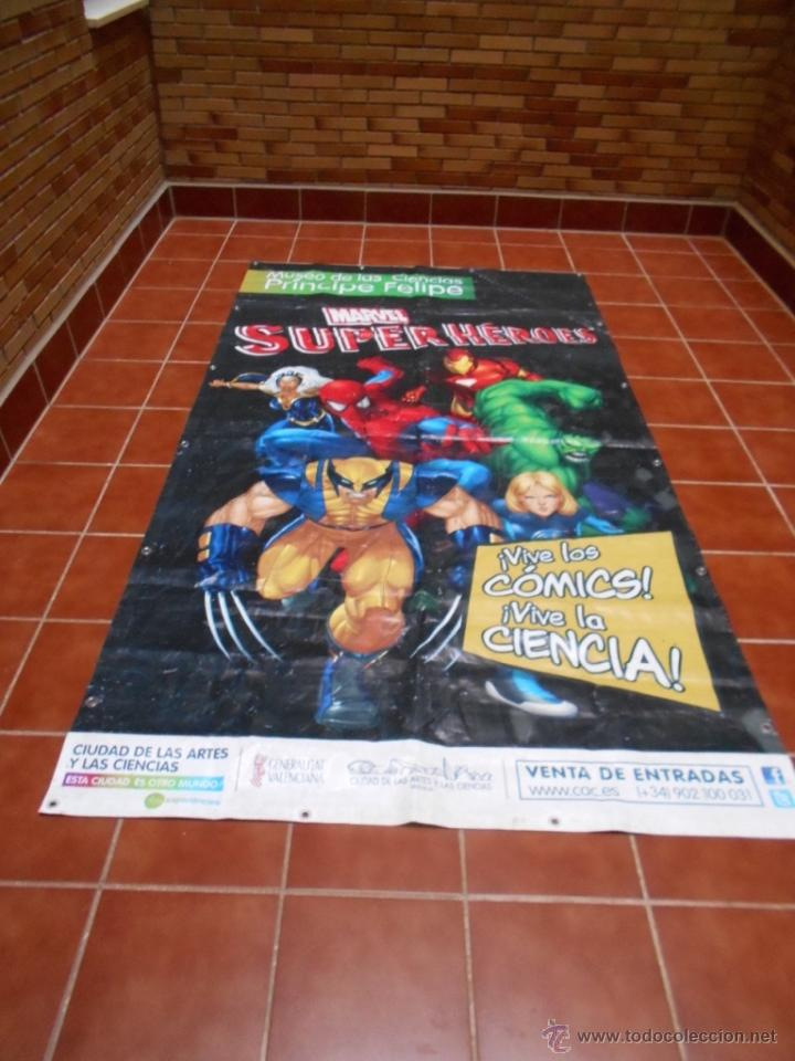 Cómics: LONA GRAN DIMENSION EXPOSICION MARVEL SUPERHEROES MUSEO DE LA CIENCIAS P. FELIPE VALENCIA 2008 2013 - Foto 4 - 51165628
