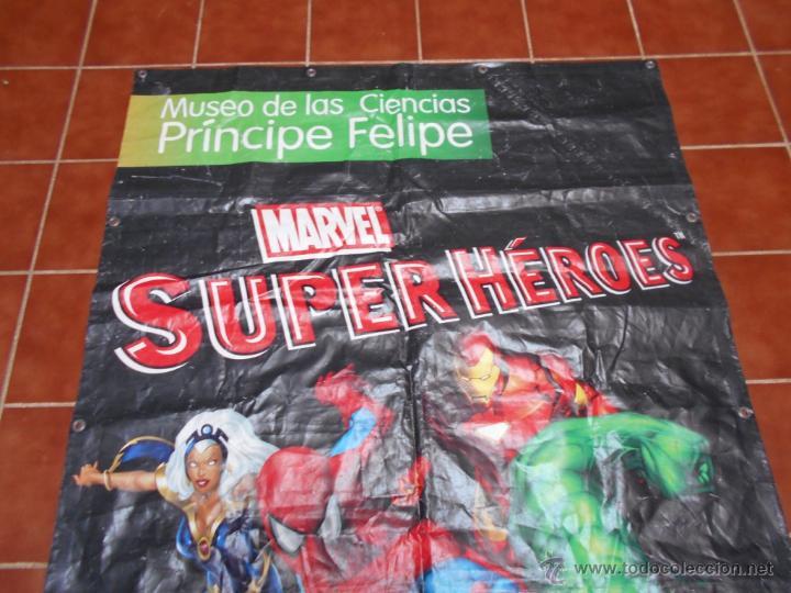 Cómics: LONA GRAN DIMENSION EXPOSICION MARVEL SUPERHEROES MUSEO DE LA CIENCIAS P. FELIPE VALENCIA 2008 2013 - Foto 5 - 51165628