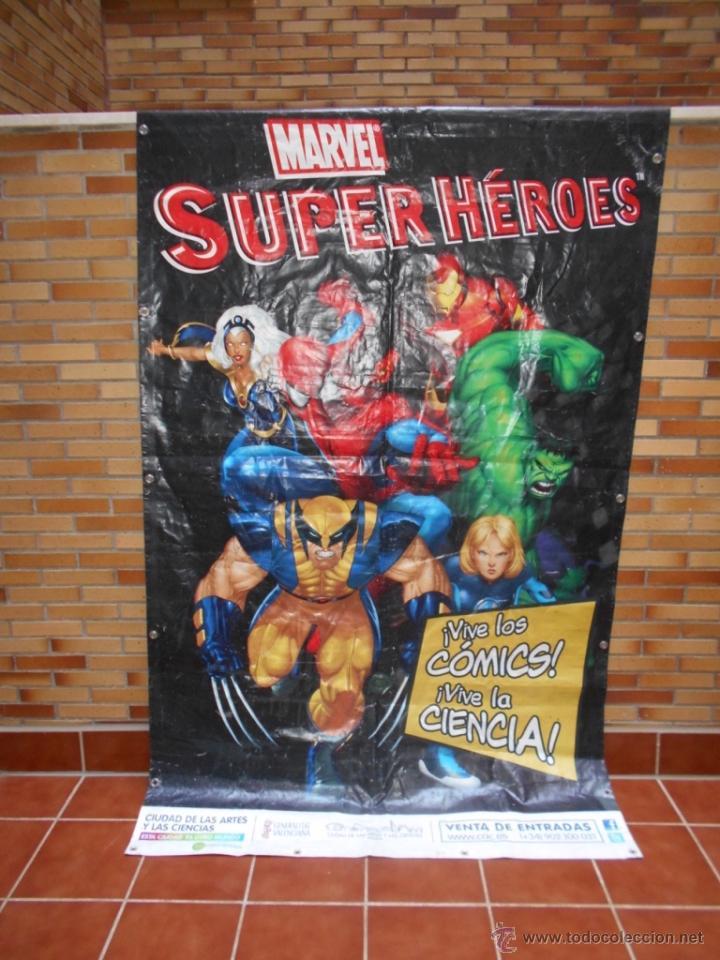 Cómics: LONA GRAN DIMENSION EXPOSICION MARVEL SUPERHEROES MUSEO DE LA CIENCIAS P. FELIPE VALENCIA 2008 2013 - Foto 6 - 51165628