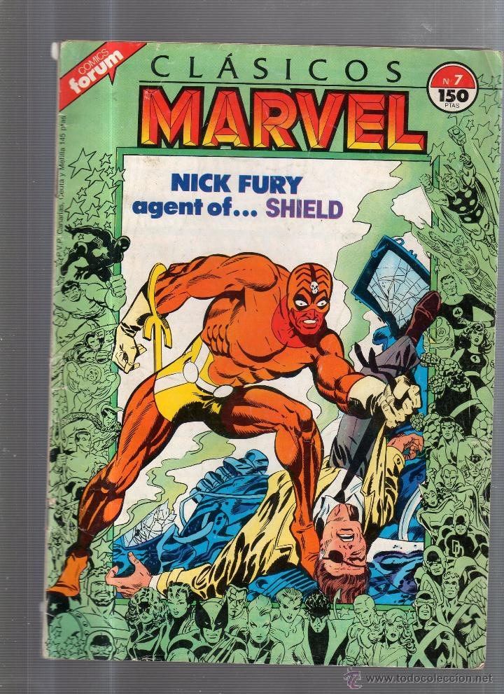 CLASICOS MARVEL. NICK FURY AGENT OF... SHIELD. Nº 7. (Tebeos y Comics - Panini - Marvel Comic)
