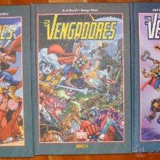 Cómics: MARVEL ESSENTIALS: LOS VENGADORES - KURT BUSIEK, GEORGE PÉREZ - 3 TOMOS PANINI. Lote 54013282