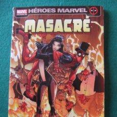 Cómics: HEROES MARVEL MASACRE Nº 7 COMPAÑEROS DEL ALMA. Lote 54154364