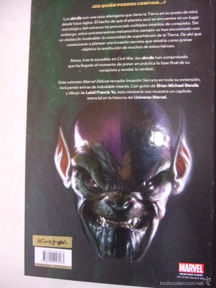 Cómics: MARVEL DE LUXE INVASION SECRETA PANINI COMICS INTEGRAL - Foto 2 - 55380106