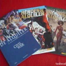 Cómics: HEROES DE ALQUILER 1 AL 3 ( GREY PALMIOTTI WELLS) COMPLETA ¡COMO NUEVOS! CIVIL WAR MARVEL PANINI. Lote 71512919