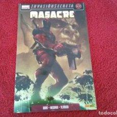Cómics: MASACRE 1 UNO DE LOS NUESTROS INVASION SECRETA ( DANIEL WAY ) ¡MUY BUEN ESTADO! PANINI MARVEL 2009. Lote 74935379