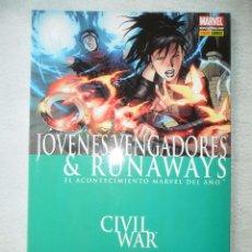 Cómics: CIVIL WAR: JÓVENES VENGADORES & RUNAWAYS - TOMO PANINI - MUY BUEN ESTADO. Lote 80704306