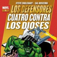 Cómics: COMIC PANINI MARVEL GOLD LOS DEFENSORES - CUATRO CONTRA LOS DIOSES - TOMO - NUEVO. Lote 83543988