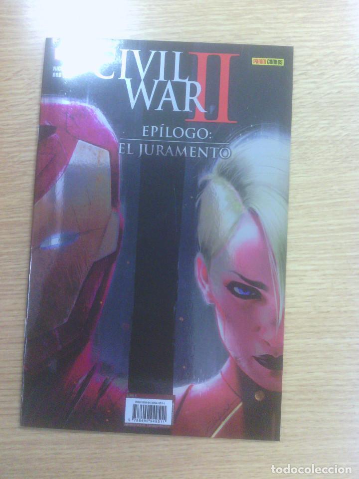 CIVIL WAR II EPILOGO EL JURAMENTO (Tebeos y Comics - Panini - Marvel Comic)