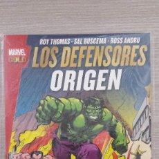 Cómics: LOS DEFENSORES ORIGEN MARVEL GOLD RÚSTICA (PANINI). Lote 85745584