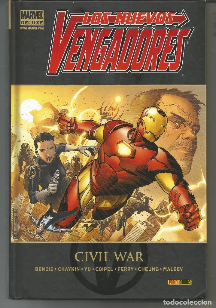MARVEL DELUXE. LOS NUEVOS VENGADORES 5 CIVIL WAR PANINI CÓMICS (Tebeos y Comics - Panini - Marvel Comic)