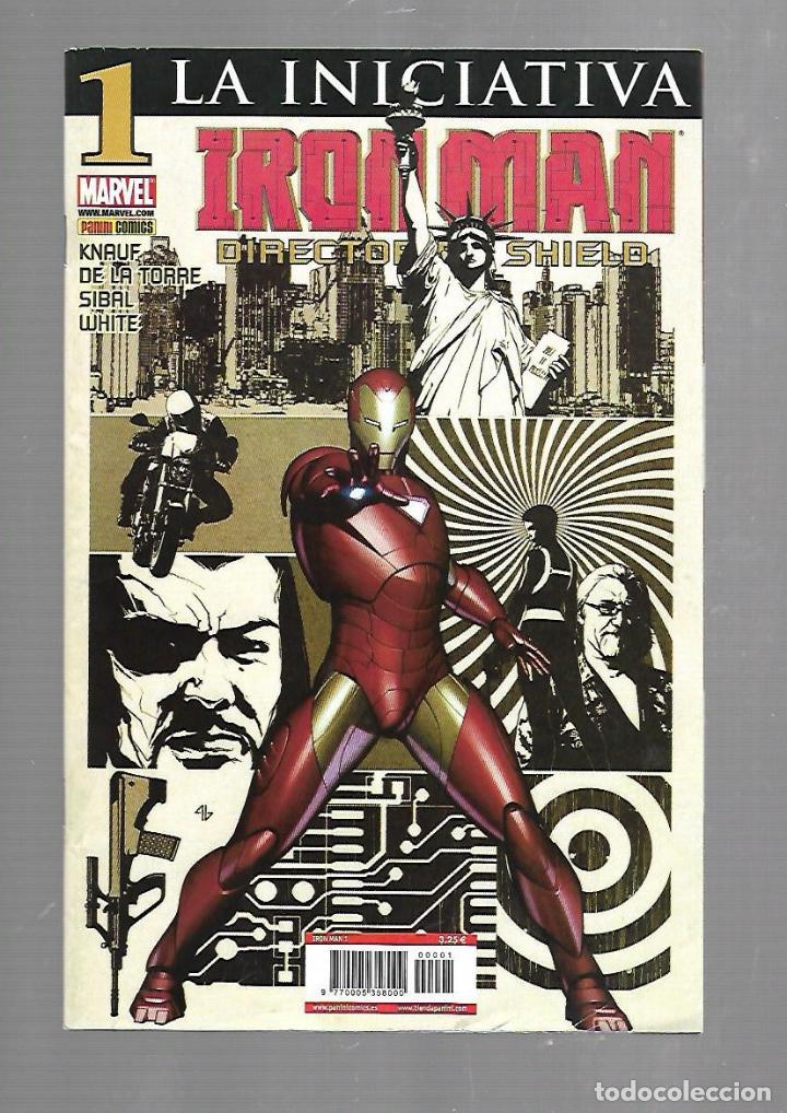 TEBEO. IRON MAN. DIRECTOR DE SHIELD. LA INICIATIVA. Nº 1. MARVEL (Tebeos y Comics - Panini - Marvel Comic)