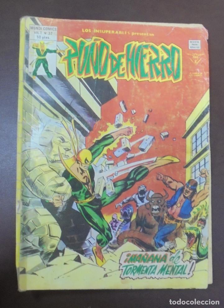 TEBEO. LOS INSUPERABLES PRESENTAN PUÑO DE HIERRA. VOL.1 Nº 32. MAÑANA DE TORMENTA MENTAL (Tebeos y Comics - Panini - Marvel Comic)