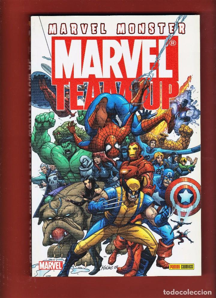 MARVEL MONSTER. MARVEL TEAM UP. VOL. 1. RÚSTICA. COMO NUEVO. (Tebeos y Comics - Panini - Marvel Comic)