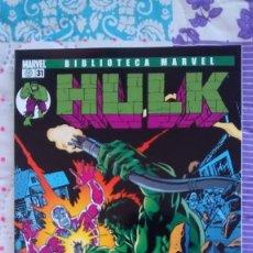 Cómics: BIBLIOTECA MARVEL HULK 31 CON EL HOMBRE MAQUINA. Lote 97005291