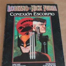 Cómics: NOVELAS GRÁFICAS MARVEL 1 – LOBEZNO / NICK FURIA - CONEXIÓN ESCORPIO - ED PLANETA 1990. Lote 98280354