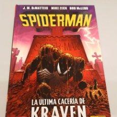 Cómics: SPIDERMAN : LA ULTIMA CACERIA DE KRAVEN ¡ ONE SHOT 176 PAGINAS ! J.M. DEMATTEIS / PANINI. Lote 142135348