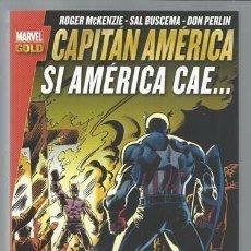 Cómics: MARVEL GOLD. CAPITÁN AMÉRICA: SI AMÉRICA CAE..., 2016, PANINI, IMPECABLE. Lote 102119999