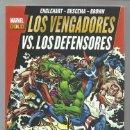 Cómics: LOS VERNGADORES VS. LOS DEFENSORES, 2012, PANINI, IMPECABLE. Lote 103366007