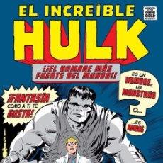 Cómics: MARVEL GOLD EL INCREIBLE HULK TOMO 1 PANINI - STAN LEE, JACK KIRBY, STEVE DITKO, MARIE SEVERIN. Lote 124153039