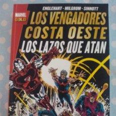 Cómics: MARVEL GOLD VENGADORES COSTA OESTE: LOS LAZOS QUE ATAN. Lote 103988183