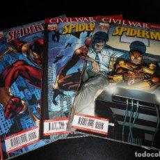Cómics: COMICS - SPDIDERMAN VOLUMEN 7 NÚMEROS 5,6 Y 7 - CIVIL WAR. Lote 107133451