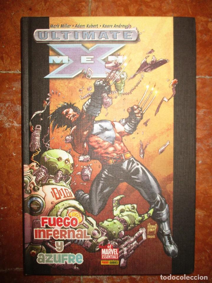 BEST OF MARVEL ESSENTIALS ULTIMATE X - MEN FUEGO INFERNAL Y AZUFRE PANINI NUEVO (Tebeos y Comics - Panini - Marvel Comic)