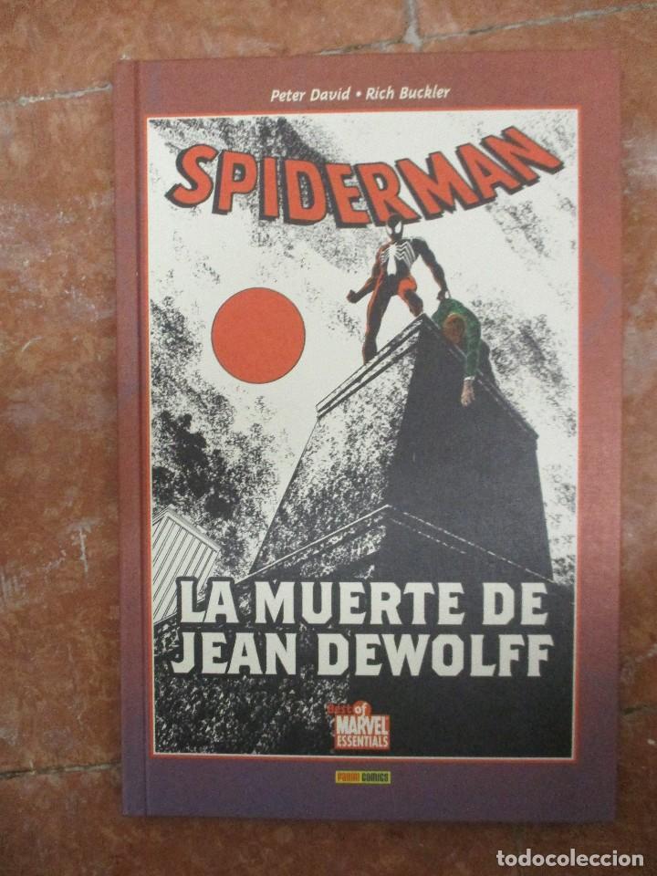 BEST OF MARVEL ESSENTIALS SPIDERMAN LA MUERTE DE JEAN DEWOLFF NUEVO DE LIBRERIA (Tebeos y Comics - Panini - Marvel Comic)