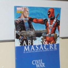 Cómics: CABLE Y MASACRE CIVIL WAR NICIEZA - JOHNSON - PANINI -. Lote 109025343