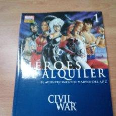 Cómics: HEROES DE ALQUILER 1 CIVIL WAR - PANINI. Lote 109872635