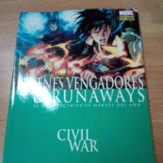 Cómics: CIVIL WAR: JÓVENES VENGADORES & RUNAWAYS - TOMO PANINI - MUY BUEN . Lote 109874759