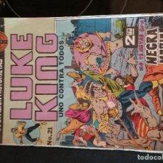 Cómics: LUKE KING UNO CONTRA TODOS ¨NO TE METAS CON NEGRA MARÍA¨ MACC DIVISION, Nº21, 1975. Lote 110290383