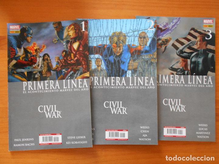 Cómics: CIVIL WAR - PRIMERA LINEA - COMPLETA - NUMEROS 1,2,3,4,5 Y 6 + PERIODICO DAILY BUGLE - PANINI (8Y) - Foto 2 - 111622451