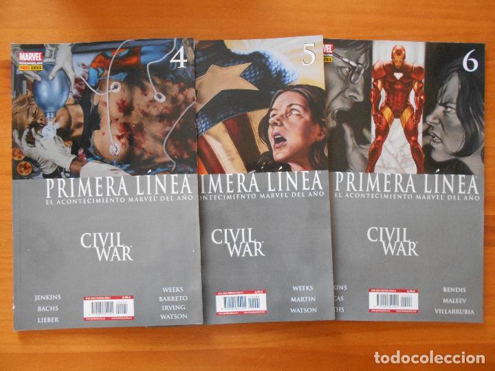 Cómics: CIVIL WAR - PRIMERA LINEA - COMPLETA - NUMEROS 1,2,3,4,5 Y 6 + PERIODICO DAILY BUGLE - PANINI (8Y) - Foto 3 - 111622451
