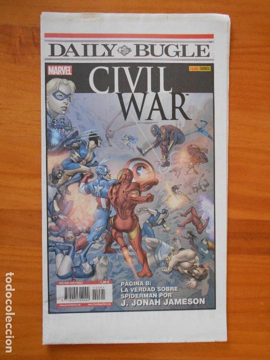 Cómics: CIVIL WAR - PRIMERA LINEA - COMPLETA - NUMEROS 1,2,3,4,5 Y 6 + PERIODICO DAILY BUGLE - PANINI (8Y) - Foto 4 - 111622451