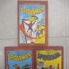 Cómics: SPIDERMAN STAN LEE - STEVE DITKO - COLECCION COMPLETA - TRES TOMOS - TAPA DURA . Lote 112904035