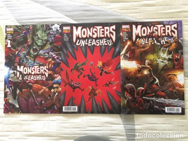 MONSTERS UNLEASHED! Nº1, 2 Y 3 (Tebeos y Comics - Panini - Marvel Comic)