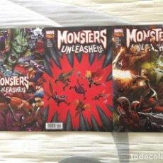 Cómics: MONSTERS UNLEASHED! Nº1, 2 Y 3. Lote 113332927