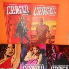 Cómics: CRIMINAL. 5 PRIMEROS NUMEROS . ED BRUBAKER - SEAN PHILLIPS / PANINI. ESTADO IMPECABLE.. Lote 113782791