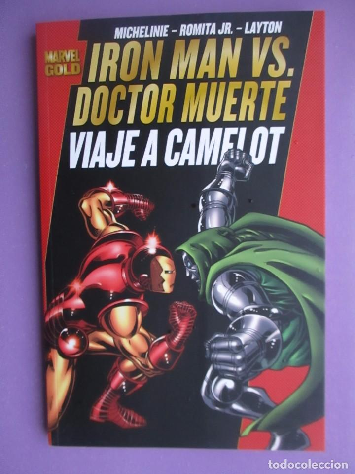 IRON MAN VS DOCTOR MUERTE, VIAJE A CAMELOT, MARVEL GOLD,¡¡¡¡NUEVO!!!! (Tebeos y Comics - Panini - Marvel Comic)